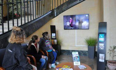 Écran TV à la Mairie