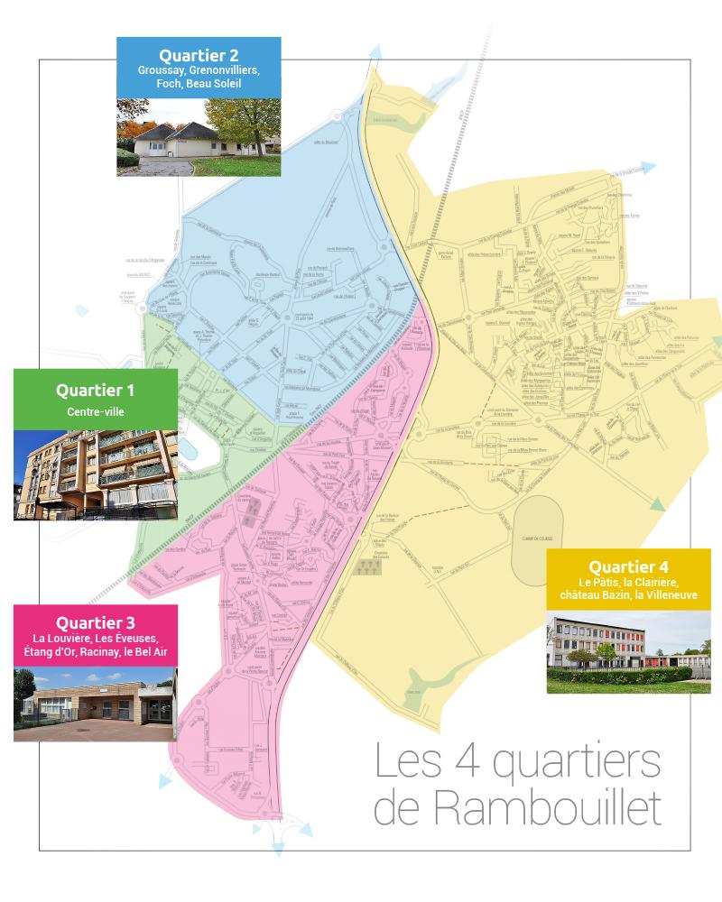 Les 4 quartiers de Rambouillet