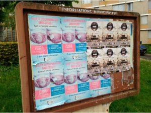 Panneau d'affichage libre avec mention trompeuse de la Mairie le 19/05/16