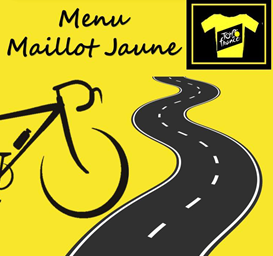 Menu Maillot Jaune Tour de France