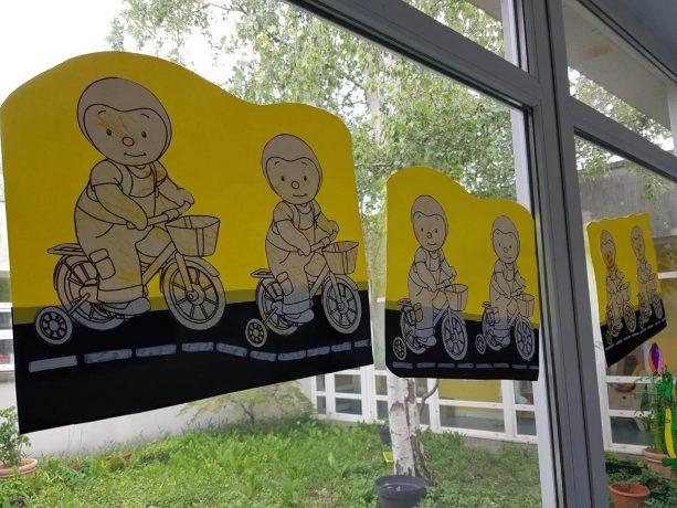 Animation sur le Tour de France à la crèche des Fontaines