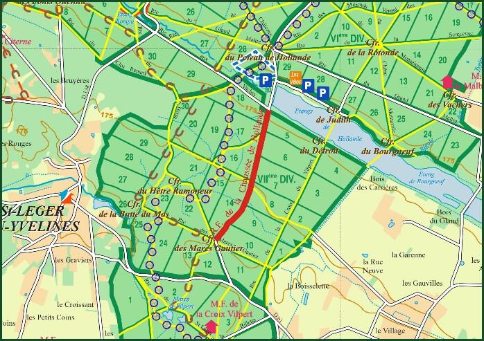 Fermeture de la route forestière de la Chaussée de Hollande Forêt de Rambouillet