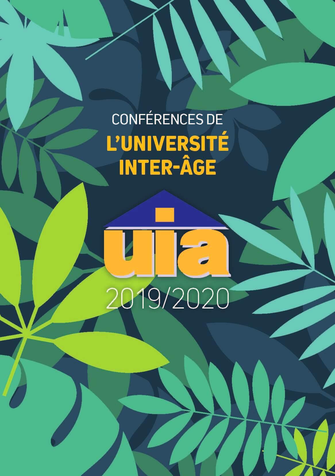 Couverture Programme des conférences de l'Université Inter-Âge